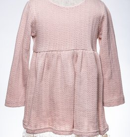 M. L. Kids Pink Lace Hem Sweater Dress