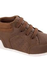 Trimfoot Co. Brown Distressed Hi Top Suedecloth Shoe