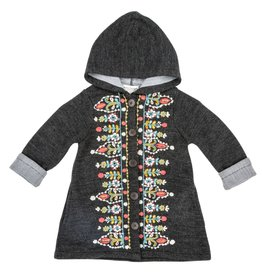 Mimi & Maggie Tapestry Embroidered Coat Sweater