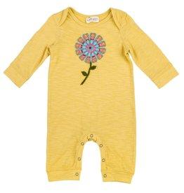 Mimi & Maggie Rainbow Sunflower Romper Mustard