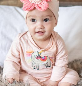 Mimi & Maggie Magical Unicorn Romper Blush