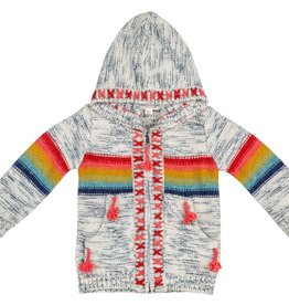 Mimi & Maggie Rainbow Stripe Sweater, S