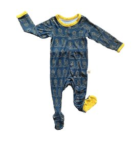 Kozi & Co Cowboy Boots Footed Pajamas