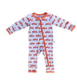 Kozi & Co Orange Pickups Zipper Coverall