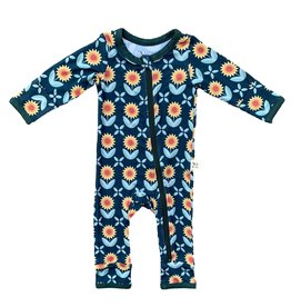 Kozi & Co Sunflowers Zipper Coverall