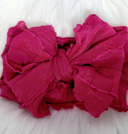 In Awe Couture Ruffle Headband Bright Pink