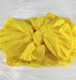 In Awe Couture Ruffle Headband Bright Yellow