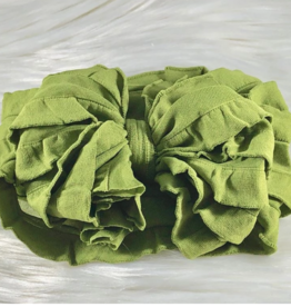 In Awe Couture Ruffle Headband Olive