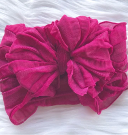 In Awe Couture Ruffle Headband Pinkberry