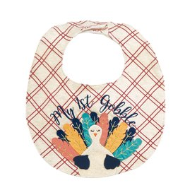 Mud Pie My 1st Gobble Bib (White)