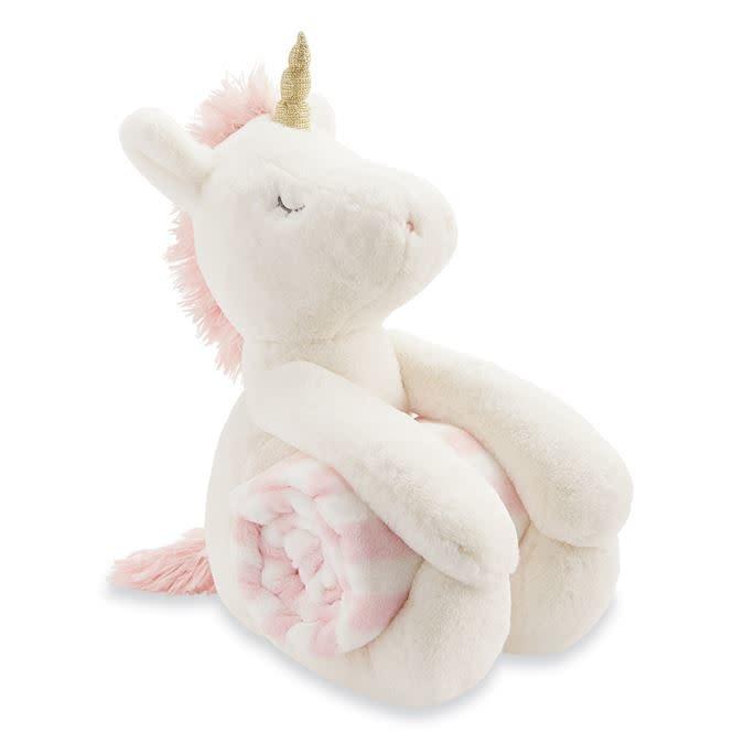 Mud Pie Unicorn Plush with Blanket