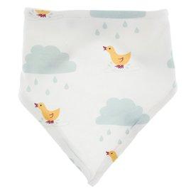 Kickee Pants Print Bandana Bib (Natural Puddle Duck)