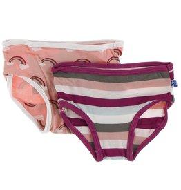 Kickee Pants Girls Underwear Set (Rainbow/Geology Stripe)