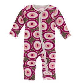 Kickee Pants Print Muff. Ruff. Coverall Zipper Falcon Agate Slices
