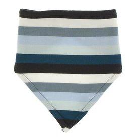 Kickee Pants Print Bandana Bib (Meteorology Stripe)
