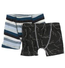 Kickee Pants Boxer Briefs Set (Meteo.Stripe/Lightning)