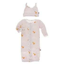 Kickee Pants Ruff. Gown Converter & Hat Set Macaroon Puddle Duck