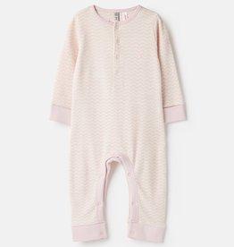 Joules Peppa Waffle Babygrow Pink/Cream Zigzag