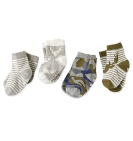 Mud Pie 4-Pack Camo Sock Set