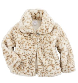 Mud Pie Tan Faux Fur Jacket