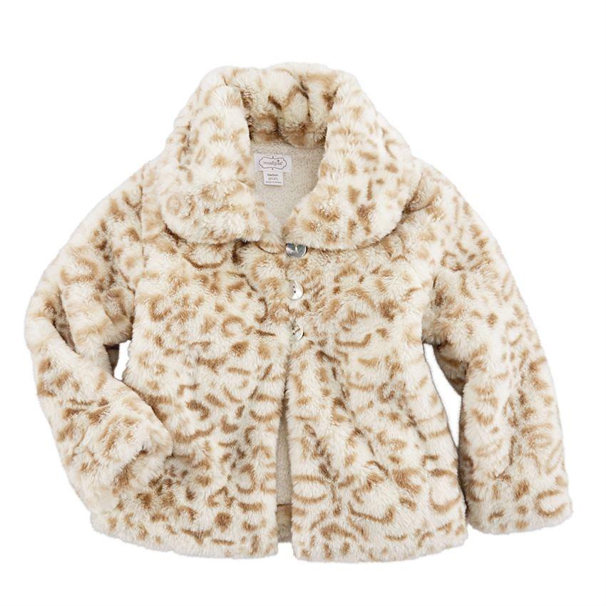 Mud Pie Tan Faux Fur Jacket