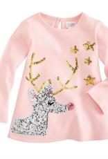 Mud Pie Gold/Silver Sequin Reindeer Tunic