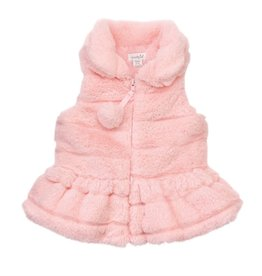 Mud Pie Pink Fur Vest