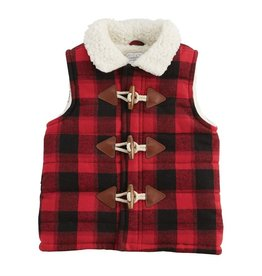 Mud Pie Sherpa Buffalo Check Vest