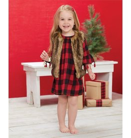 Mud Pie Smocked Buffalo Check Dress