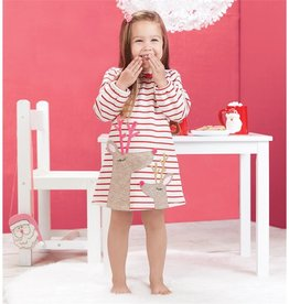 Mud Pie Stripe Reindeer Dress