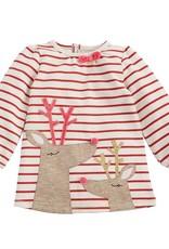 Mud Pie Stripe Reindeer Dress