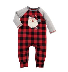 Mud Pie Team Santa Buffalo Check One Piece