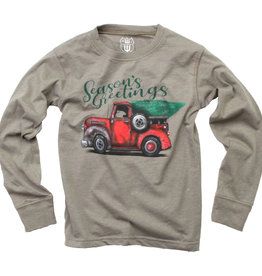 Wes And Willy Season's Greetings Tee Od Green