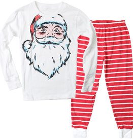 Wes And Willy LS Santa PJ Cherry