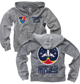 Wes And Willy LS Mission To Mars Faded Wash Hoody Castlerock