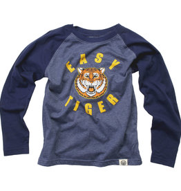 Wes And Willy LS Easy Tiger Raglan Tee Midnight