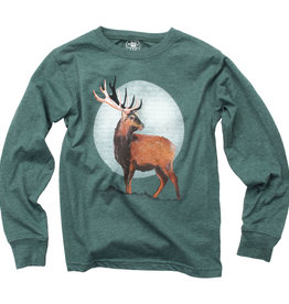 Wes And Willy Deer Tee Evergreen