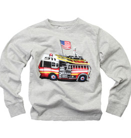 Wes And Willy Firetruck Tee Heather