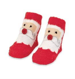 Mud Pie Chenille Santa Sock