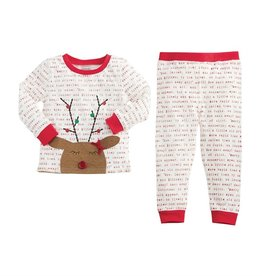 Mud Pie Cream Rudolph Pajamas
