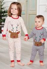 Mud Pie Cream Rudolph Pajamas