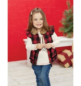Mud Pie Girl Buffalo Check Vest