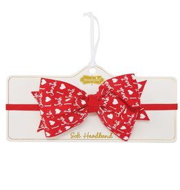 Mud Pie Heart Holiday Soft Headband