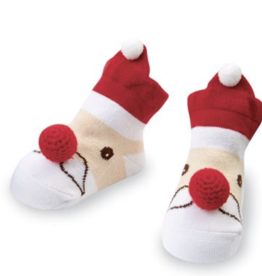 Mud Pie Santa Rattle Toe Sock (Nose Rattles)