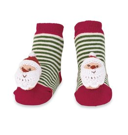 Mud Pie Santa Rattle Toe Socks