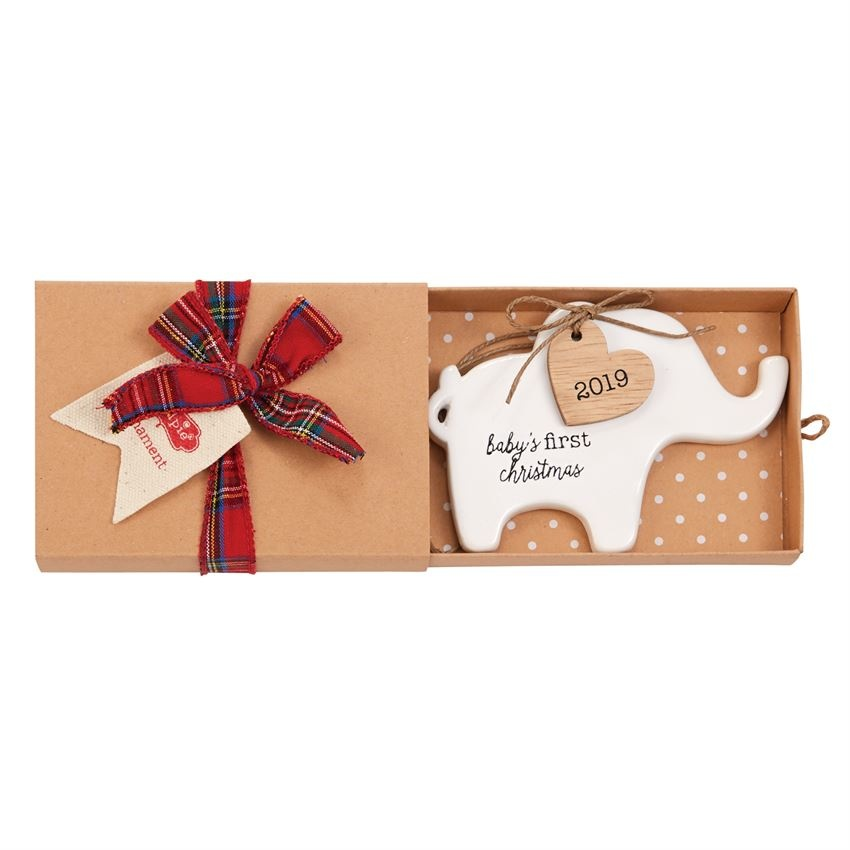 Mud Pie Elephant First Christmas 2019 Ornament