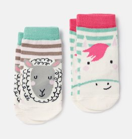 Joules Neat Feet Socks Pink Horse Sheep Set