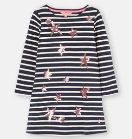 Joules Riviera Luxe Dress Navy Star Stripe