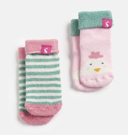 Joules Terry Socks Multi Chick Stripe