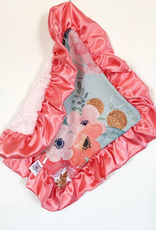 Rockin Royalty Aqua Floral Lovie Blanket